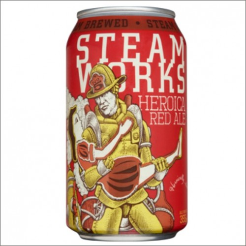 STEAM WORKS HEROICA RED ALE 35,5 cl.