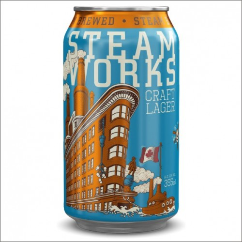 STEAM WORKS CRAFT LAGER 35,5 cl.
